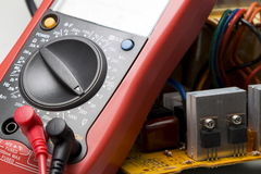 Multimeter, Instrument for measuring voltage Stock Images