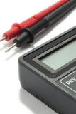 Multimeter instrument with wires on the white background Royalty Free Stock Image