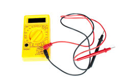 Multimeter and leads Royalty Free Stock Images