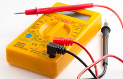 Multimeter with leads Stock Photography
