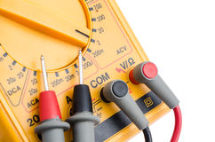 Multimeter with probes (close-up) Stock Images