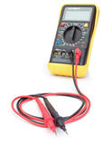 The multimeter probes to measure. Royalty Free Stock Photo