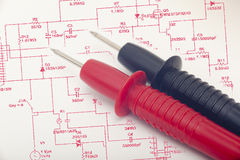 Multimeter probes Stock Photo
