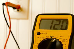 Multimeter Testing Outlet Stock Photos