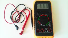 multimeter with wires Royalty Free Stock Photo