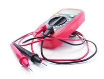 Multimetro elettrico rosso Fotografie Stock Libere da Diritti