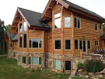 Multimillion Dollar Log Home Stock Photography