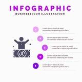 Multimillonario, hombre, millonario, persona, fondo de la presentación de los pasos de Rich Solid Icon Infographics 5 libre illustration