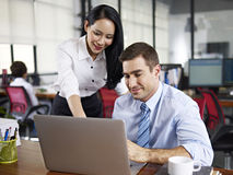 Multinational business people working together in office Royalty Free Stock Photography