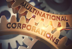 Multinational Corporations. 3D. Royalty Free Stock Photography