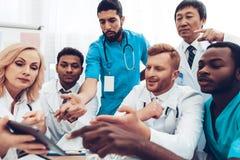Multinational Doctors Group Diagnostic Meeting. stock photos