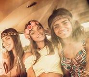 Multinational hippie girls Stock Photos