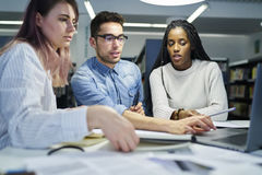 Multinational team of business school students royalty free stock images