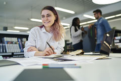 Multinational team of business school students Royalty Free Stock Photo