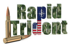 Multinational troops exercise Rapid Trident US NATO Stock Images