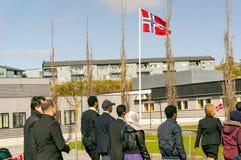 Multinationale paradevakantie van de Noorse grondwet royalty-vrije stock fotografie