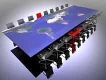 Multinationale Sitzung Stockbild