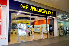 MultiOpticas opticians shop. MultiOpticas shop situated in Portimao shopping Mall in Portugal. Entrance of optometrists shop. Photo taken on the 15th August 2013 Stock Photography
