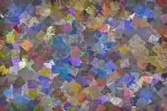 Multipel Målarfärg-som fyrkanter av olika färger för din bakgrund arkivbilder