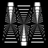 Multipel som upprepar former av svartvita filmband för abstrakt vektor Royaltyfri Foto