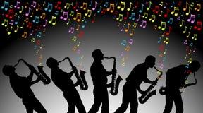 Färgrik musik Royaltyfri Bild
