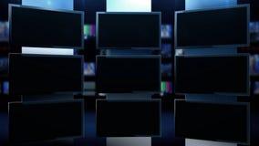 Multipelskärmar i studio lager videofilmer