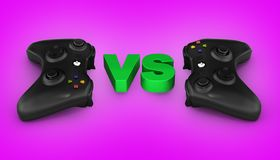 Multiplayer games illustration on gradient background 3d. Multiplayer games illustration on gradient background stock illustration