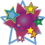 Multiple 3D Stars Illustration Stock Photos