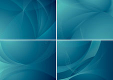 Multiple abstract background set. Vector illustration of blue abstract backgrounds, in four variants Stock Photo