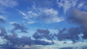 Multiple Altitude Clouds Time Lapse 13. A time lapse video showing the motion and transformation of different types of clouds, at different altitudes. Presented stock footage
