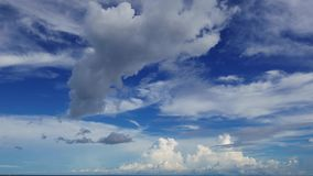 Multiple Altitude Clouds Time Lapse 15. A time lapse video showing the motion and transformation of different types of clouds, at different altitudes stock footage