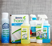 Multiple Amway products for home care Royalty Free Stock Photo