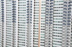 Multiple  apartment  windows  in Singapore Stock Photo