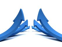 Multiple arrows steping up Royalty Free Stock Photography