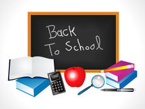 Multiple back to school elements Royalty Free Stock Images