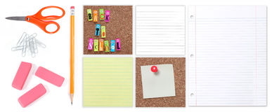 Multiple Back to School Student Supplies Royalty Free Stock Photos