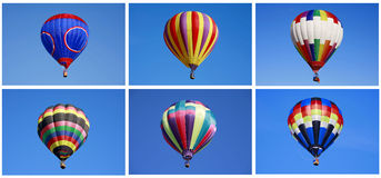 Multiple Balloons. Multiple Hot Air Balloons Floating in the Sky Stock Photos