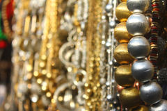 Multiple beads in shop Stock Photo