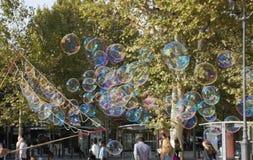 Tiny Bubbles at a Pedestrian Mall