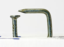 Multiple bent silvery nail #3 Royalty Free Stock Photos