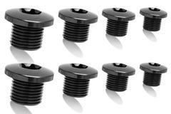 Multiple Black iron polished bolt Royalty Free Stock Photo