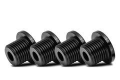 Multiple Black iron polished bolt Stock Image
