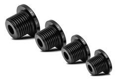 Multiple Black iron polished bolt Royalty Free Stock Images