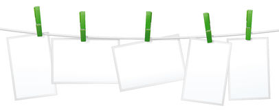 Multiple blank photos frames Royalty Free Stock Images