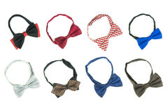 Multiple bow tie on a white. Stock Photography