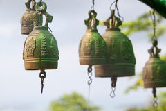 Multiple bronze bells Royalty Free Stock Photos