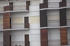 Multiple brown balconies Royalty Free Stock Image