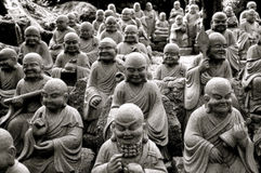 Multiple Buddha Statues Royalty Free Stock Photo