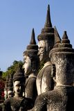 Multiple Buddhas - Buddha Park, Vientiane. Laos Stock Photos