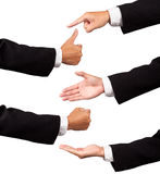 Multiple businessman hands Royalty Free Stock Photography